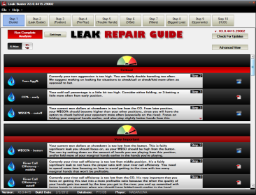 Analyze your stats by position.  Get detailed information on your leaks by position, along with advice on how to correct your leaks.
